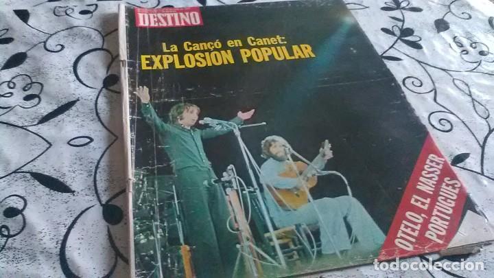 DESTINO CANÇO EN CANET (Coleccionismo - Revistas y Periódicos Modernos (a partir de 1.940) - Revista Destino)