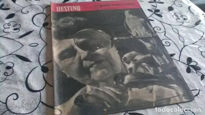 DESTINO, SAGRADA FAMILIA Y GAUDI (Coleccionismo - Revistas y Periódicos Modernos (a partir de 1.940) - Revista Destino)