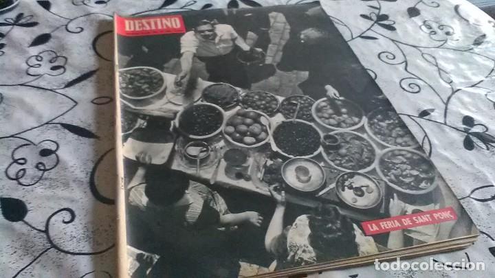 DESTINO, FERIA SANT PONÇ (Coleccionismo - Revistas y Periódicos Modernos (a partir de 1.940) - Revista Destino)