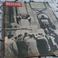 Coleccionismo de Revista Destino: DESTINO, MONOGRAFICO PICASSO. Lote 199233605