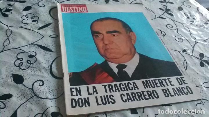 DESTINO, MUERTE CARRERO BLANCO (Coleccionismo - Revistas y Periódicos Modernos (a partir de 1.940) - Revista Destino)
