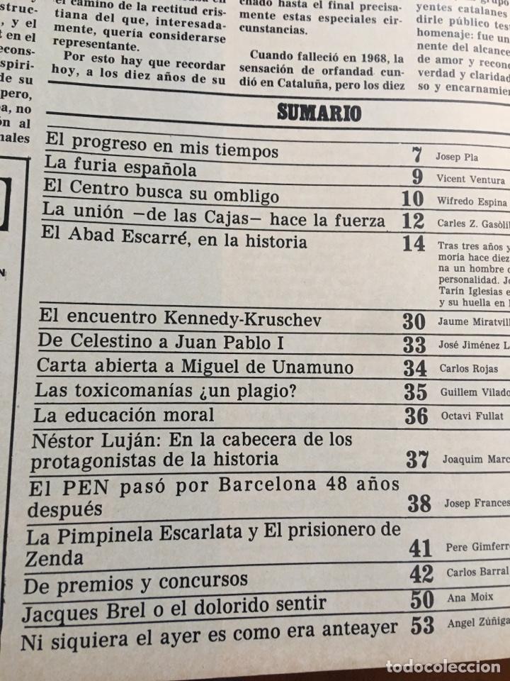 Coleccionismo de Revista Destino: REVISTA DESTINO 2141, 1978 ABAD ESCARRE EN LA HISTORA - Foto 2 - 200092467