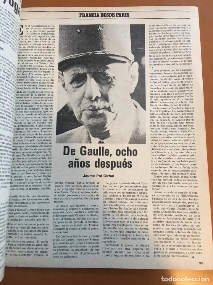 Coleccionismo de Revista Destino: REVISTA DESTINO 2145 ,1978,ESTATUT SAU,PUJOL, BERGUEDA,MACIA,CONPANYS,. - Foto 4 - 200092981