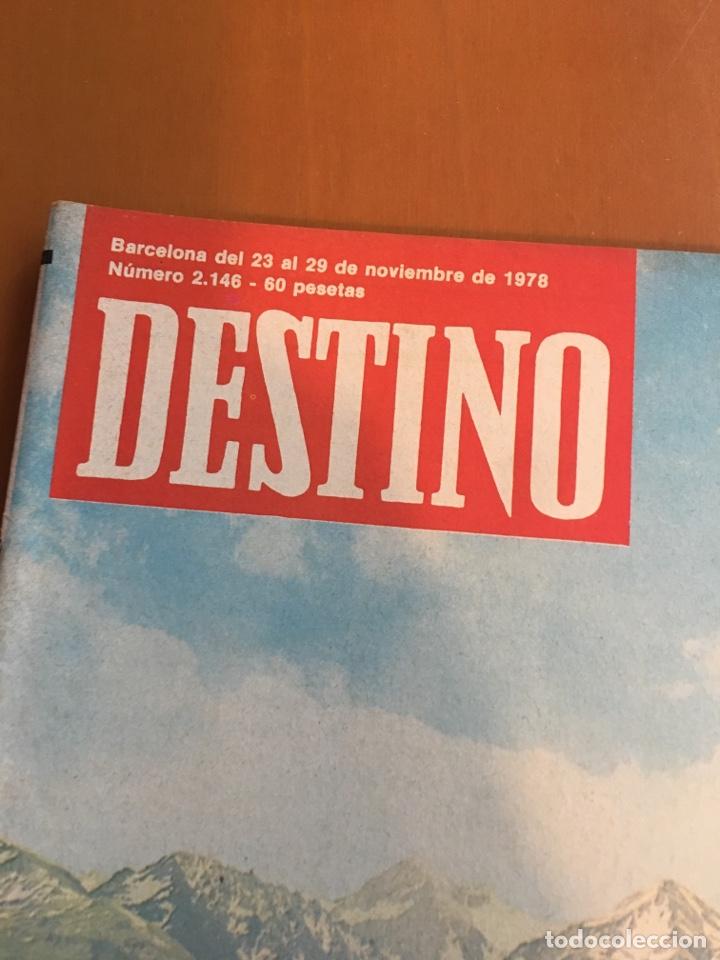 Coleccionismo de Revista Destino: REVISTA DESTINO 2146 ,1978, VALL D'ARAN SINGULARIDAD A PERPETUAR, REVENTOS, MANRESA,PEDRALBES, MACIA - Foto 2 - 200093146