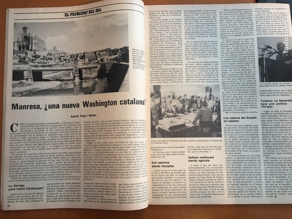 Coleccionismo de Revista Destino: REVISTA DESTINO 2146 ,1978, VALL D'ARAN SINGULARIDAD A PERPETUAR, REVENTOS, MANRESA,PEDRALBES, MACIA - Foto 7 - 200093146