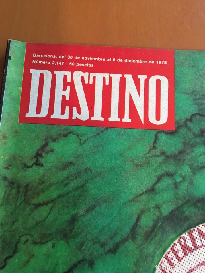 Coleccionismo de Revista Destino: REVISTA DESTINO 2147, 1978, CONSTITUCIÓN MARCA EL JUEGO, LA SELVA,, - Foto 2 - 200093286
