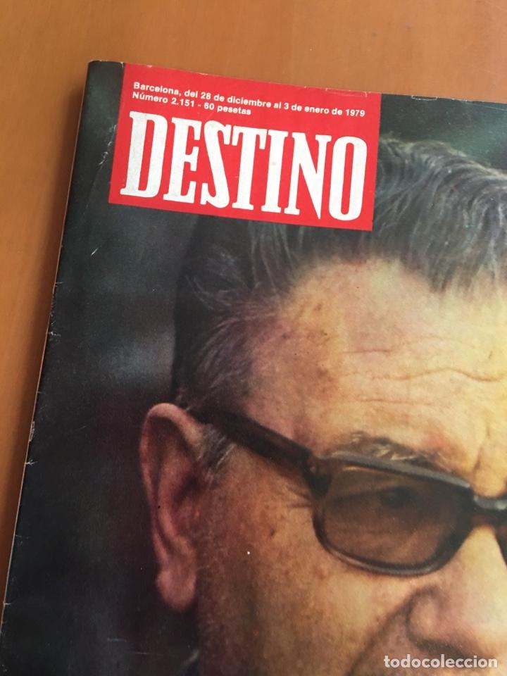Coleccionismo de Revista Destino: REVISTA DESTINO 2151, 1979,BROSSA , FUTBOL,MUNDIAL 82,TARRADELLAS, PESSEBRES VIVIENTES,... - Foto 2 - 200095301