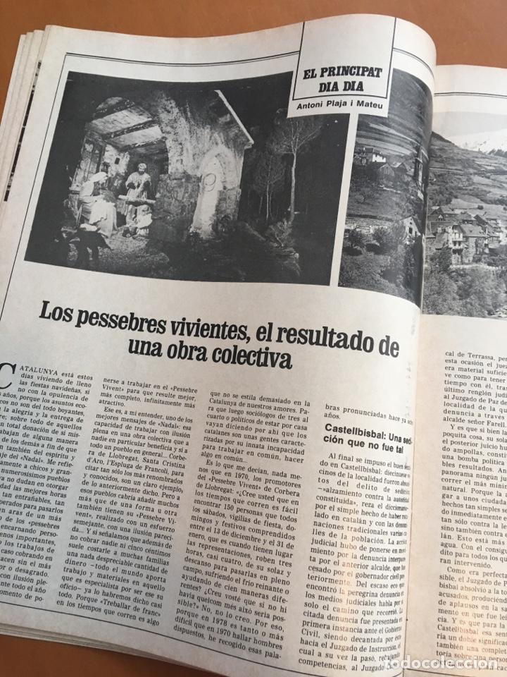 Coleccionismo de Revista Destino: REVISTA DESTINO 2151, 1979,BROSSA , FUTBOL,MUNDIAL 82,TARRADELLAS, PESSEBRES VIVIENTES,... - Foto 5 - 200095301