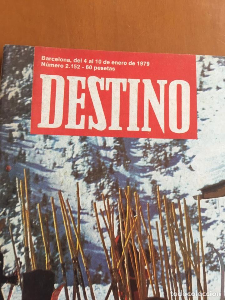 Coleccionismo de Revista Destino: REVISTA DESTINO 2152, 1979,NEGOCIO NIEVE ESQUÍ, COMPANYS, TOLSTOI,H.MOORE ,... - Foto 2 - 200099056