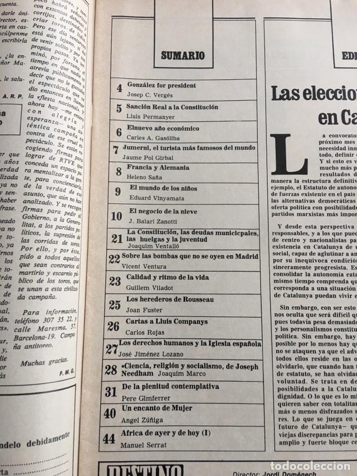Coleccionismo de Revista Destino: REVISTA DESTINO 2152, 1979,NEGOCIO NIEVE ESQUÍ, COMPANYS, TOLSTOI,H.MOORE ,... - Foto 3 - 200099056