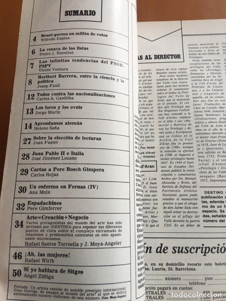 Coleccionismo de Revista Destino: REVISTA DESTINO 2156, 1979, EL ARTE, HERIBERT BARRERA,.... - Foto 3 - 200101386