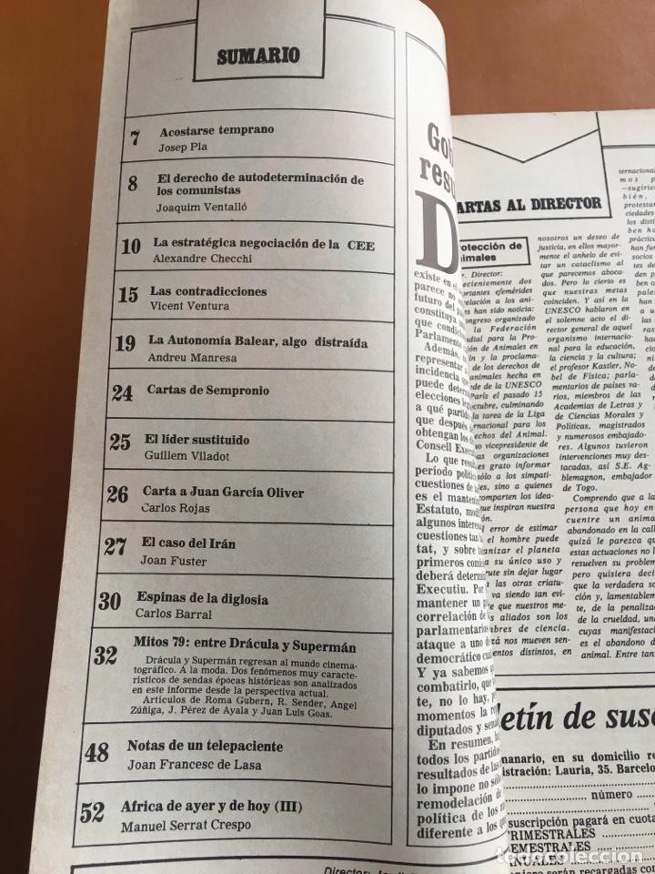 Coleccionismo de Revista Destino: REVISTA DESTINO 2157, 1979, MITOS DEL 79 ENTRE DRÁCULA Y SUPERMAN - Foto 3 - 200101837
