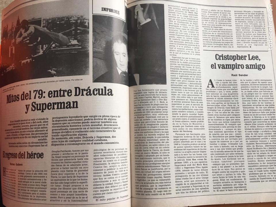 Coleccionismo de Revista Destino: REVISTA DESTINO 2157, 1979, MITOS DEL 79 ENTRE DRÁCULA Y SUPERMAN - Foto 4 - 200101837