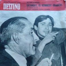 Coleccionismo de Revista Destino: REVISTA DESTINO NUM 1541 18 FEBRERO 1968. LECAUNET. SALVADOR ESPRIU Y RAIMON. Lote 204680058