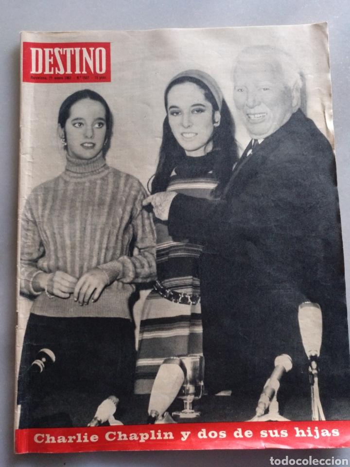 REVISTA DESTINO NUM 1537, 21 ENERO 1967.CHARLES CHAPLIN (Coleccionismo - Revistas y Periódicos Modernos (a partir de 1.940) - Revista Destino)