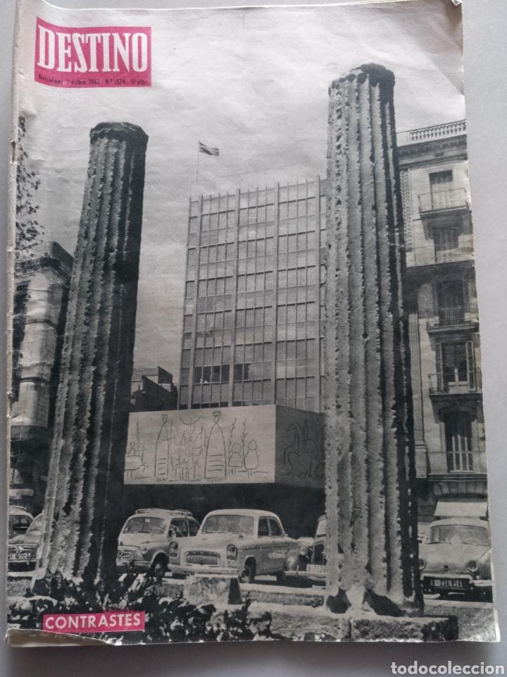 REVISTA DESTINO NUM 1374, 7 DICIEMBRE 1963 (Coleccionismo - Revistas y Periódicos Modernos (a partir de 1.940) - Revista Destino)