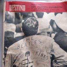 Coleccionismo de Revista Destino: DESTINO 4 FEBRERON1967LOS JOVENES ESPAÑOLES Y LA POLÍTICA. Lote 204700943