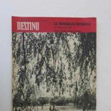 Coleccionismo de Revista Destino: DESTINO -1963 -EL LAGO DE BANYOLES, LA SIDERURGIA BRITANICA, LOS PROBLEMAS DE LA COSTA BRAVA.... Lote 204742147