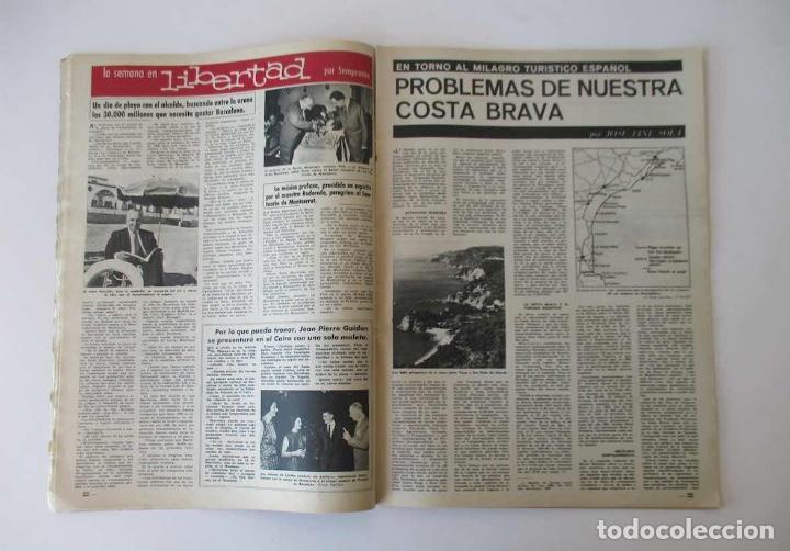 Coleccionismo de Revista Destino: DESTINO -1963 -EL LAGO DE BANYOLES, LA SIDERURGIA BRITANICA, LOS PROBLEMAS DE LA COSTA BRAVA... - Foto 2 - 204742147