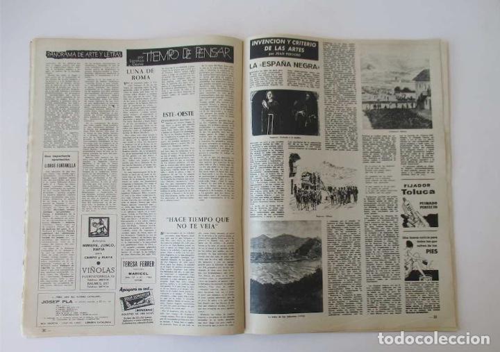 Coleccionismo de Revista Destino: DESTINO -1963 -EL LAGO DE BANYOLES, LA SIDERURGIA BRITANICA, LOS PROBLEMAS DE LA COSTA BRAVA... - Foto 4 - 204742147