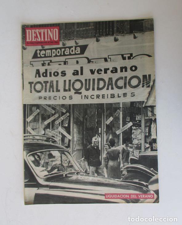 DESTINO - AÑO 1963 - LAS REBAJAS DEL VERANO, MARTIN LUTER KING, VENECIA, CANNES, RAIMON... (Coleccionismo - Revistas y Periódicos Modernos (a partir de 1.940) - Revista Destino)