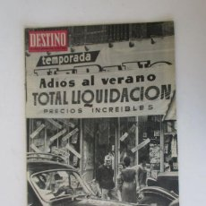 Coleccionismo de Revista Destino: DESTINO - AÑO 1963 - LAS REBAJAS DEL VERANO, MARTIN LUTER KING, VENECIA, CANNES, RAIMON.... Lote 204742411
