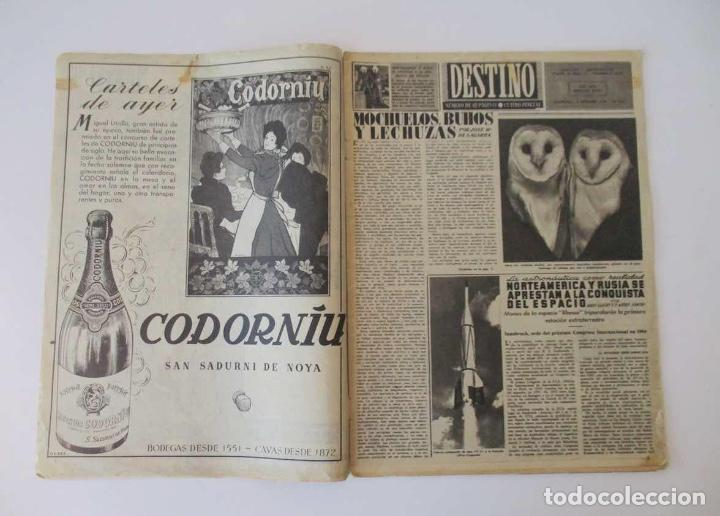 Coleccionismo de Revista Destino: DESTINO - 1953 - NORTEAMERICA Y RUSIA A LA CONQUISTA DEL ESPACIO, LA ADOPCION DE NIÑOS EN ESPAÑA... - Foto 2 - 204747600