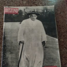 Coleccionismo de Revista Destino: DESTINO NUM 1347 1 JUNIO 1963. JUAN XXIII. Lote 211565411
