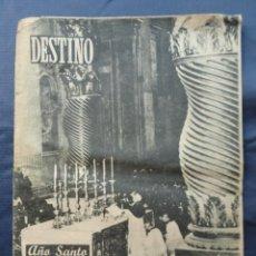 Coleccionismo de Revista Destino: REVISTA DESTINO 11/02/1950 2ª EPOCA AÑO XIV. Lote 211594000