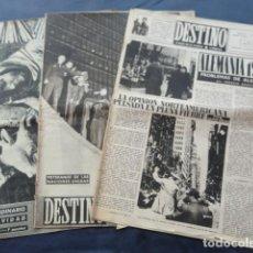 Coleccionismo de Revista Destino: 3 REVISTAS DESTINO. AÑO 1951.. Lote 211594750