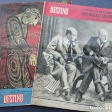 Coleccionismo de Revista Destino: 2 REVISTAS DESTINO. AÑO 1961.. Lote 211606551