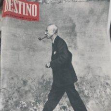 Collectionnisme de Magazine Destino: DESTINO NUM 1542, 25 FEBRERO 1967. OPPENHEIMER, EL CONSTRUCTOR DE LABPRIMERA BOMBA ATÓMICA. Lote 213345311