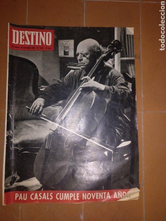 DESTINO NUM 1533, 31 DICIEMBRE 1966. PAU CASALS (Coleccionismo - Revistas y Periódicos Modernos (a partir de 1.940) - Revista Destino)