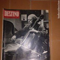 Coleccionismo de Revista Destino: DESTINO NUM 1533, 31 DICIEMBRE 1966. PAU CASALS. Lote 213461837