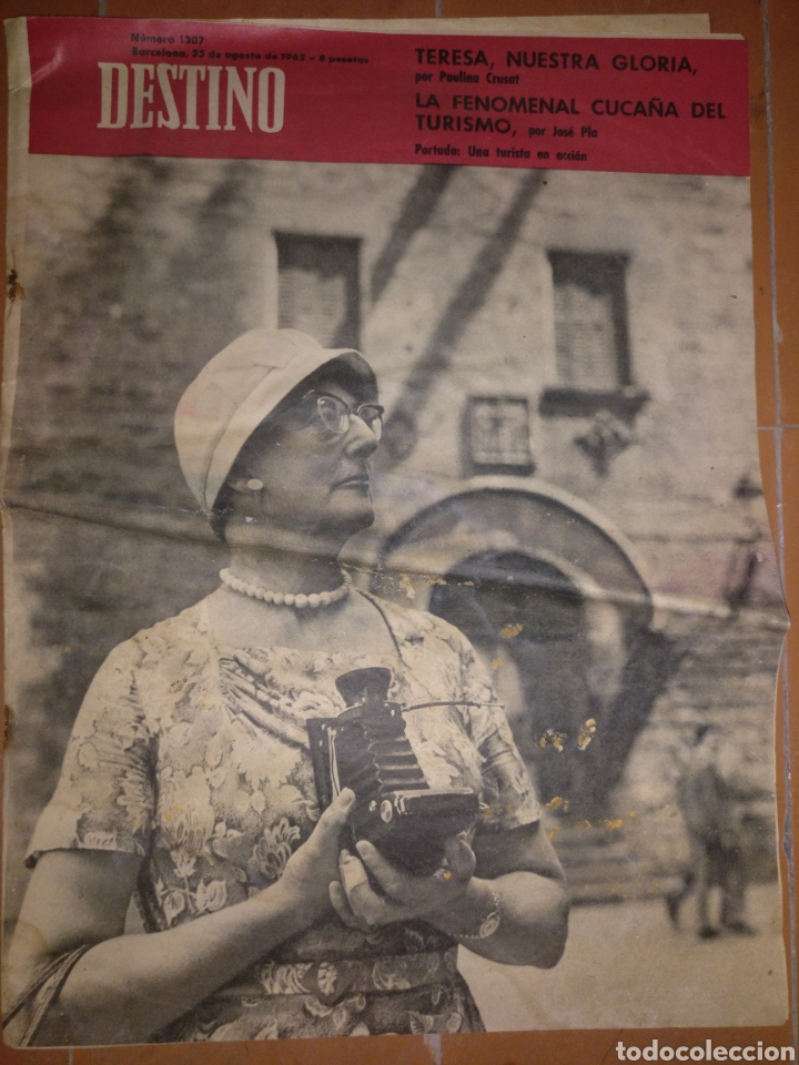 DESTINO NUM 1307,25 AGOSTO 1962. (Coleccionismo - Revistas y Periódicos Modernos (a partir de 1.940) - Revista Destino)