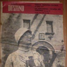 Coleccionismo de Revista Destino: DESTINO NUM 1307,25 AGOSTO 1962.. Lote 213461958