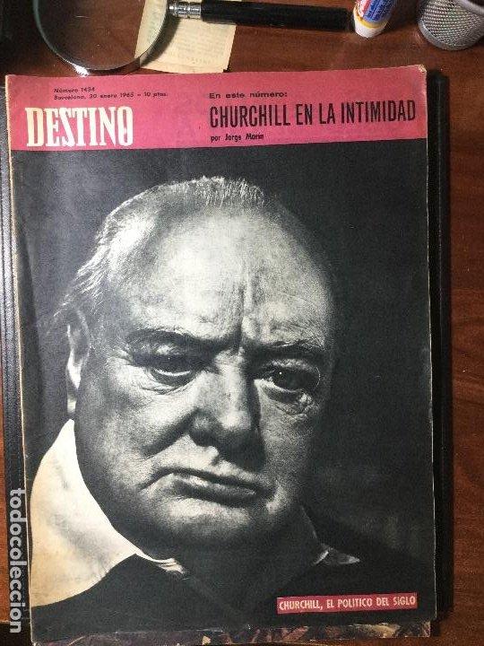 REVISTA DESTINO , 1965 , CHURCHILL 46 PAG. (Coleccionismo - Revistas y Periódicos Modernos (a partir de 1.940) - Revista Destino)