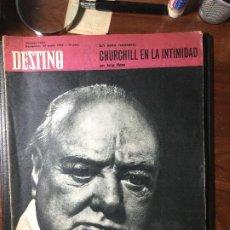 Coleccionismo de Revista Destino: REVISTA DESTINO , 1965 , CHURCHILL 46 PAG.. Lote 216694245
