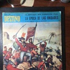 Coleccionismo de Revista Destino: REVISTA DESTINO , 1967 , PORTADA GARIBALDI. Lote 216698078