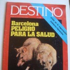 Collectionnisme de Magazine Destino: DESTINO N.º 2054 (10/16 FEBRERO 1977). UNA NOCHE CON SARA MONTIEL. CNT Y LOS CRISTIANOS.. Lote 217779462