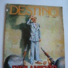 Coleccionismo de Revista Destino: DESTINO N.º 2088 (11/17 OCTUBRE 1977). FUSILAMIENTO DE LLUÍS COMPANYS.. Lote 217780070