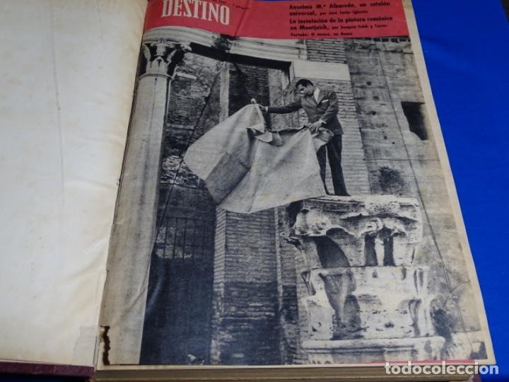 Coleccionismo de Revista Destino: REVISTA DESTINO DEL 1 JULIO AL 30 DE DICIEMBRE DE 1961.BIEN ENCUADERNADO Y CONSERVADO. - Foto 2 - 222177611