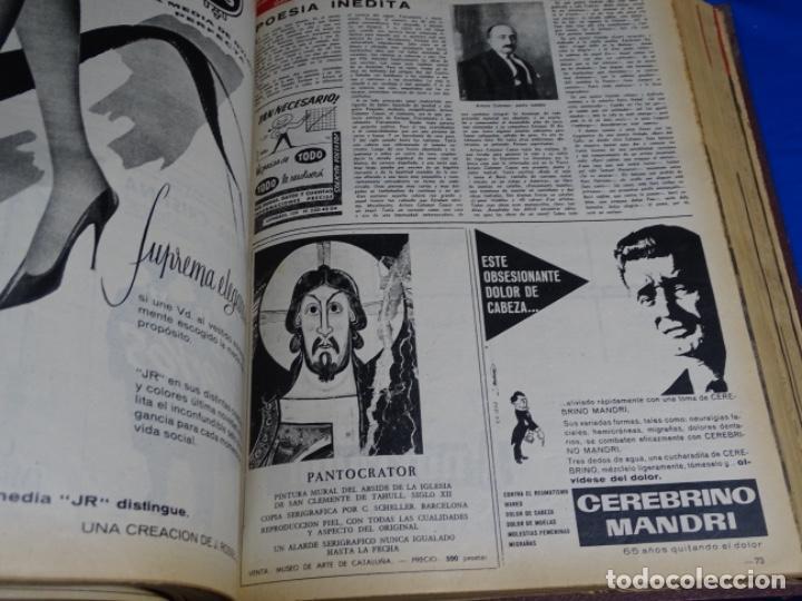 Coleccionismo de Revista Destino: REVISTA DESTINO DEL 1 JULIO AL 30 DE DICIEMBRE DE 1961.BIEN ENCUADERNADO Y CONSERVADO. - Foto 3 - 222177611