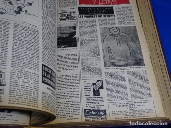 Coleccionismo de Revista Destino: REVISTA DESTINO DEL 1 JULIO AL 30 DE DICIEMBRE DE 1961.BIEN ENCUADERNADO Y CONSERVADO. - Foto 4 - 222177611