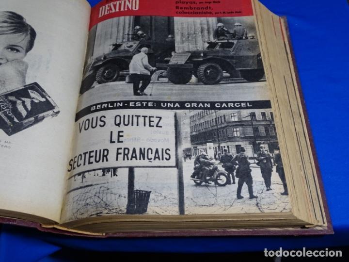 Coleccionismo de Revista Destino: REVISTA DESTINO DEL 1 JULIO AL 30 DE DICIEMBRE DE 1961.BIEN ENCUADERNADO Y CONSERVADO. - Foto 6 - 222177611
