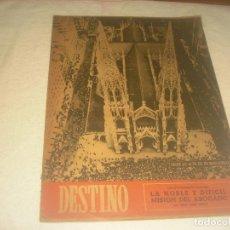 Coleccionismo de Revista Destino: DESTINO N.667. MAYO 1950. DESDE LO ALTO DEL EDIFICIO ROCKEFELLER FOTO DE LA CATEDRAL SAN PATRICIO.. Lote 226396175
