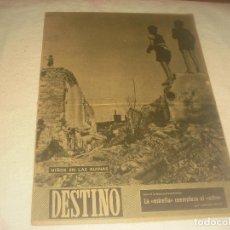 Coleccionismo de Revista Destino: DESTINO N. 605, MARZO 1949. NIÑOS EN LAS RUINAS DE VIENA.. Lote 226469905