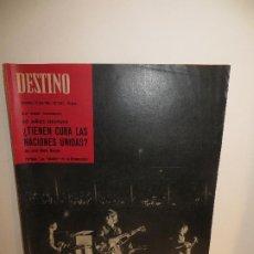 Coleccionismo de Revista Destino: THE BEATLES REVISTA DESTINO AÑO 1965 ESTADO PLANCHA COMO SALIDA DE IMPRENTA,BUEN PRECIO. Lote 227739285