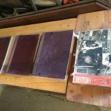 Coleccionismo de Revista Destino: ANTIGUO LOTE DE 3 ALBUMS REVISTA / REVISTAS DESTINO AÑO 1948-1947-1949 TEMAS DISTINTOS. Lote 228064760