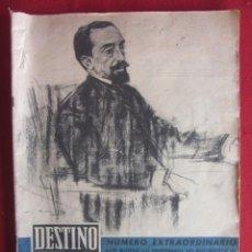 Coleccionismo de Revista Destino: REVISTA DESTINO NUMERO EXTRAORDINARIO JUAN MARAGALL. Nº 1179. MARZO 1960. Lote 235409385